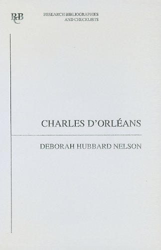 9780729303248: Charles d'Orléans: an analytical bibliography (Research Bibliographies and Checklists)