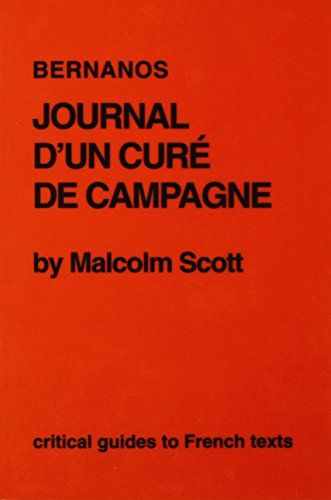 9780729303927: Bernanos: Journal d'un cure de campagne (Critical Guides to French Texts)