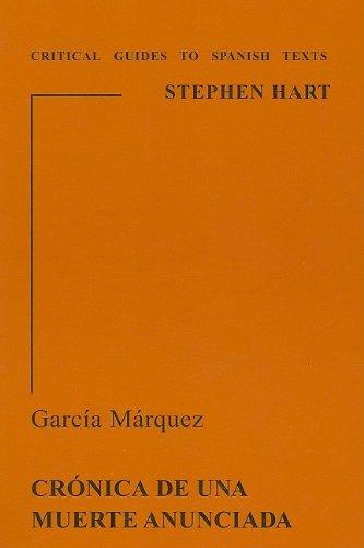 9780729304450: Garcia Marquez: Cronica de una Muerte Anunciada: Cronica De Una Muerte Anunciapa (Critical Guides to Spanish Texts)