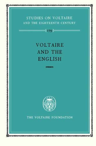 Voltaire and the English (Hardback): G. Barber, W.H. Barber, Et Al