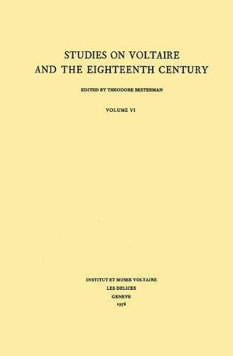 Miscellany/Melanges (Studies on Voltaire & the Eighteenth Century) (French Edition) (0729401375) by A.J. Bingham; et al