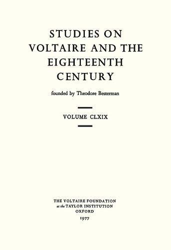 Voltaire Collectaneous 1977 (Studies on Voltaire) (0729402150) by Keith Michael Baker; etc.; et al
