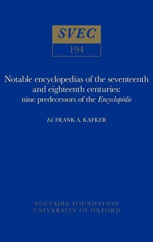 9780729402569: Notable Encyclopaedias of the Seventeenth and Eighteenth Centuries: Nine Predecessors of the