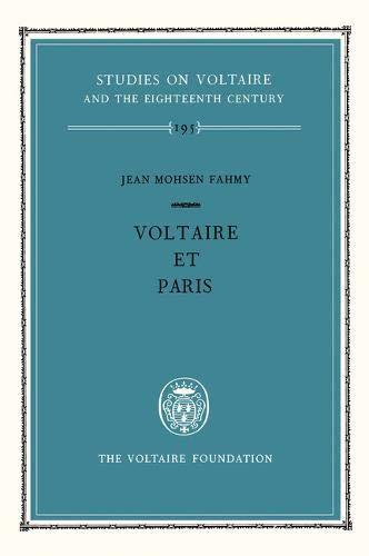 Voltaire et Paris (Hardback): Jean Mohsen Fahmy