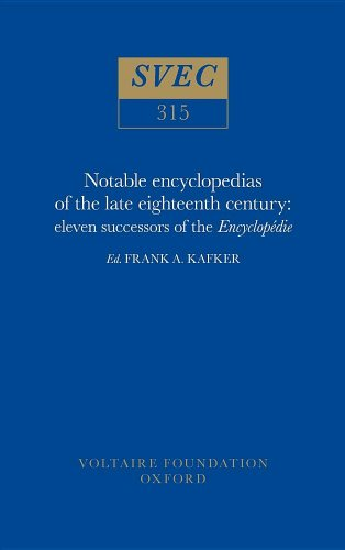9780729404679: Notable Encyclopedists of the Eighteenth Century: Successors of the Encyclopedie (Studies on Voltaire)