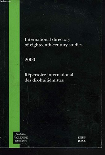 International directory of eighteenth-century studies 2000