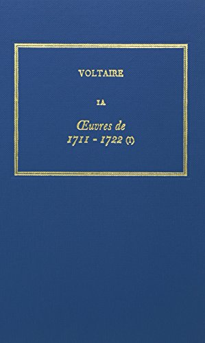 The Complete Works of Voltaire: OEdipe, Lettres Sur OEdipe v. 1A: Voltaire