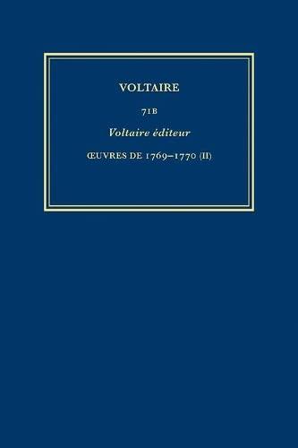 Oeuvres De 1769-1770: Pt. 2 (Hardback): Voltaire