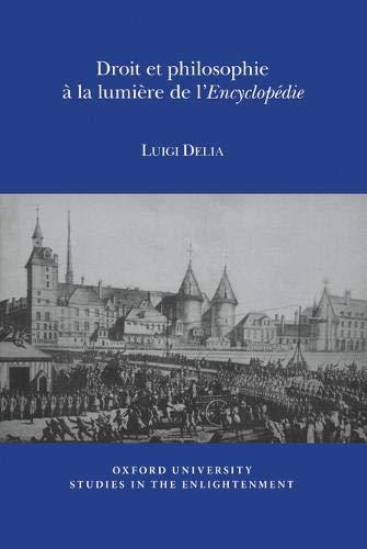 9780729411646: Droit et Philosophie a la Lumiere de l'Encyclopedie