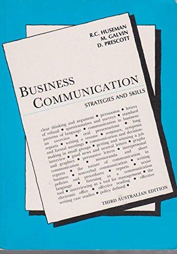 9780729502924: Business communication: Strategies and skills