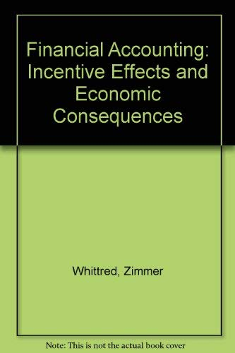 Financial Accounting: Incentive Effects and Economic Consequences: Whittred, Zimmer