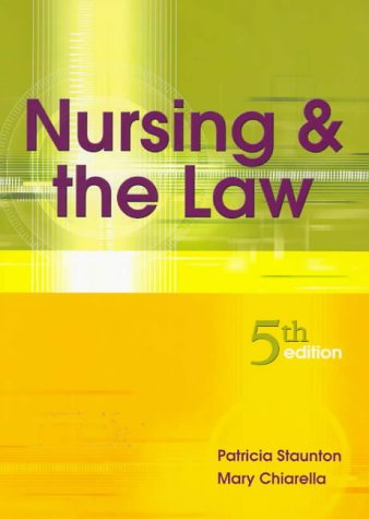 9780729536769: Nursing and the Law