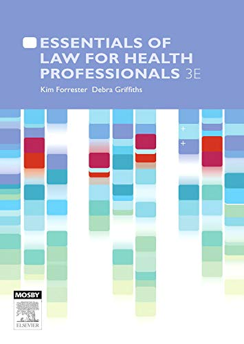 9780729539159: Essentials of Law for Health Professionals