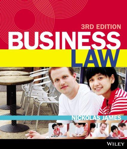 Business Law 3E+istudy Version 1 Card: Nickolas James