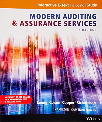 Modern Auditing and Assurance Services Wiley E-text: Philomena Leung