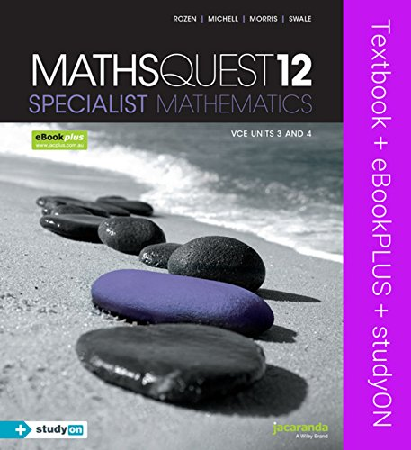 Maths Quest 12 Specialist Mathematics VCE Units 3 and 4 & eBookPLUS + StudyOn VCE Specialist ...
