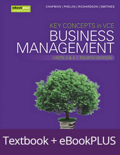9780730331445: Key Concepts in VCE Business Management Units 3&4 4E eBookPLUS & Print + StudyOn VCE Business Management Units 3&4 (Key Concepts in Business Management Series)