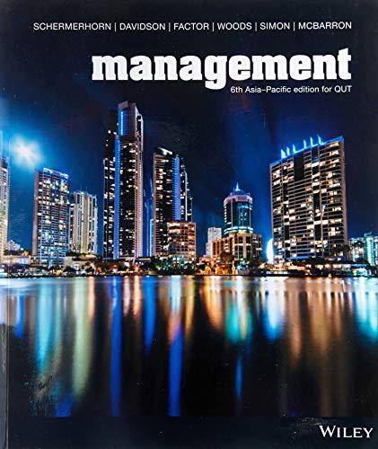 Management 6th Asia-Pacific Edition Custom F/Qut (Black: John R. Schermerhorn