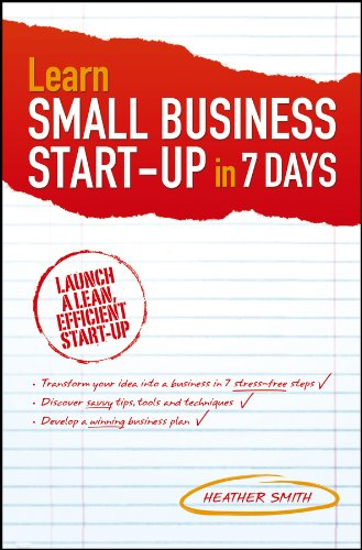 9780730378235: Learn Small Business Startup in 7 Days
