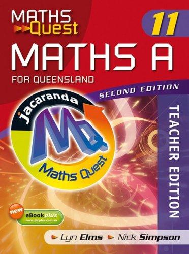 Maths Quest Maths a Year 11 for Queensland 2E Teacher Edition & eGuidePLUS (Paperback): Lyn ...