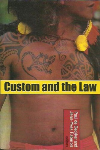 9780731536610: Custom and the Law