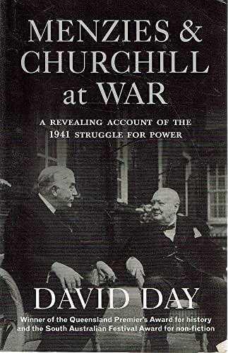9780731810581: Menzies & Churchill at war