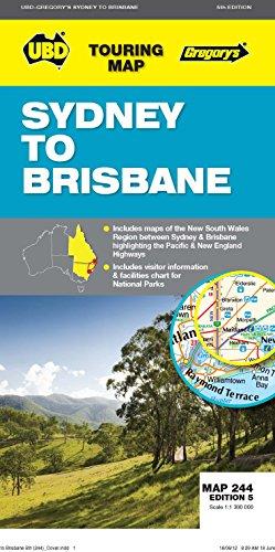 9780731927470: Sydney to Brisbane Map 244