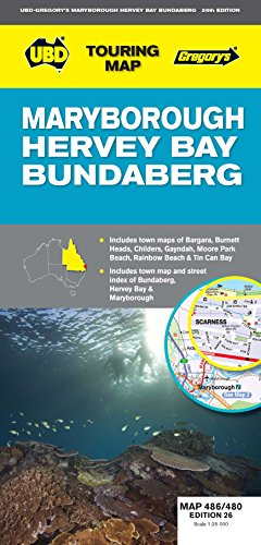 9780731928217: Maryborough, Hervey Bay & Bundaberg Map 486/480 26th ed