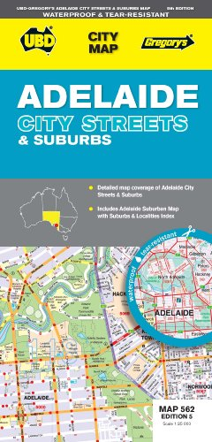 9780731928392: UBD Gregory's Adelaide City Streets and Suburbs Map 562