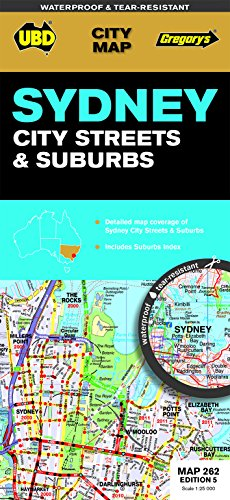 9780731928408: UBD Gregory's Sydney City Streets and Suburbs Map 262