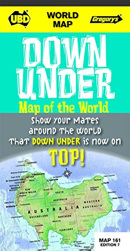 9780731928446: World Down Under map of the world -  upside down