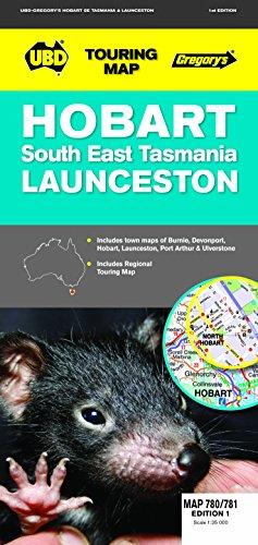 9780731928927: Hobart : South East Tasmania : Launceston (Touring Map)