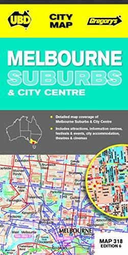 9780731928996: Melbourne Suburbs & City Centre: Melbourne CBD 1 : 5000 / Melbourne City 1 : 10 000 / Melbourne Suburbs 1 : 120 000