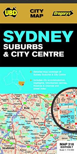 9780731929078: Sydney Suburbs and City Map 218