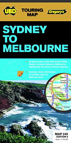 9780731929702: Sydney to Melbourne Touring Map