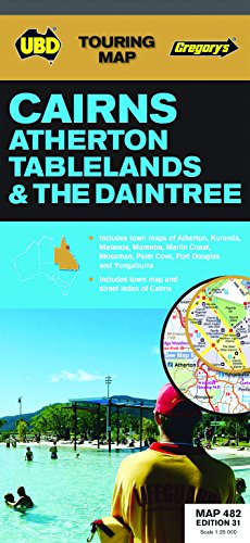 9780731929856: Cairns Atherton Tableland & The Daintree UBD Map 1:25K (Touring Map)