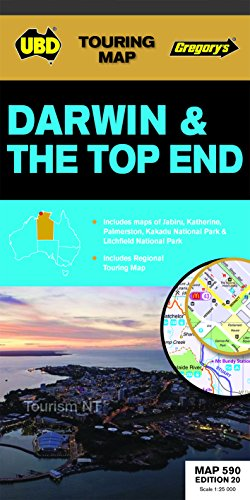 Darwin And The Top End Map 590: Ubd Gregorys, Ubd