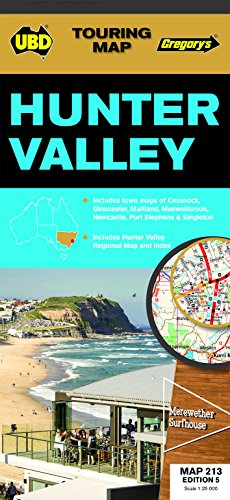 Hunter Valley Map 213 5th ed: UBD Gregorys