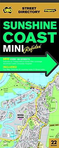 Sunshine Coast Mini Refidex Street Directory 22nd: UBD Gregorys