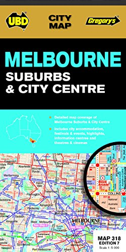 9780731930425: Melbourne Suburbs & City Centre Map 318 7th ed (City Map)