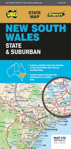 NSW State & Suburban Map 270 27th ed: UBD Gregorys