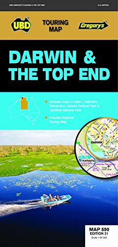 Darwin Top End Map 590 21st ed: UBD Gregory s
