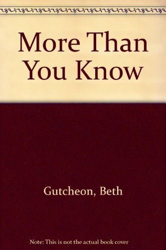 9780732272623: More Than You Know