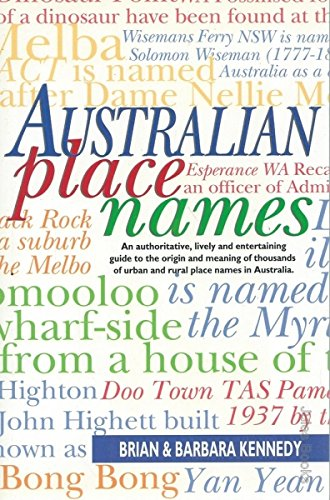Australian Place Names: Kennedy, Brian and