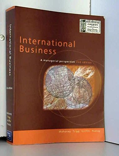 9780733907395: International Business: a Managerial Perspective