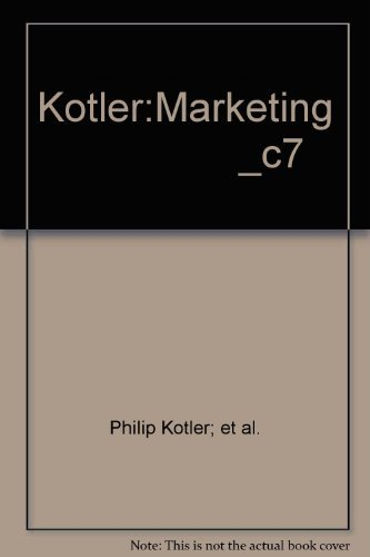 Marketing (7th Edition): Kotler, Philip; Adam,