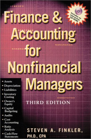 9780735202689: Finance & Accounting for Nonfinancial Managers (With CD-ROM)