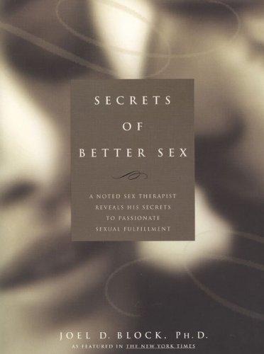 9780735202832: Secrets of Better Sex