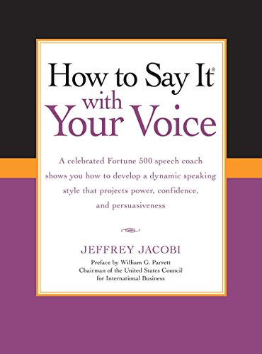 9780735204492: How To Say It with Your Voice