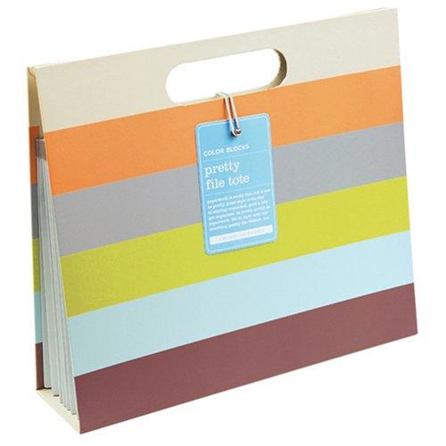 9780735315228: Color Blocks Accordion File Tote